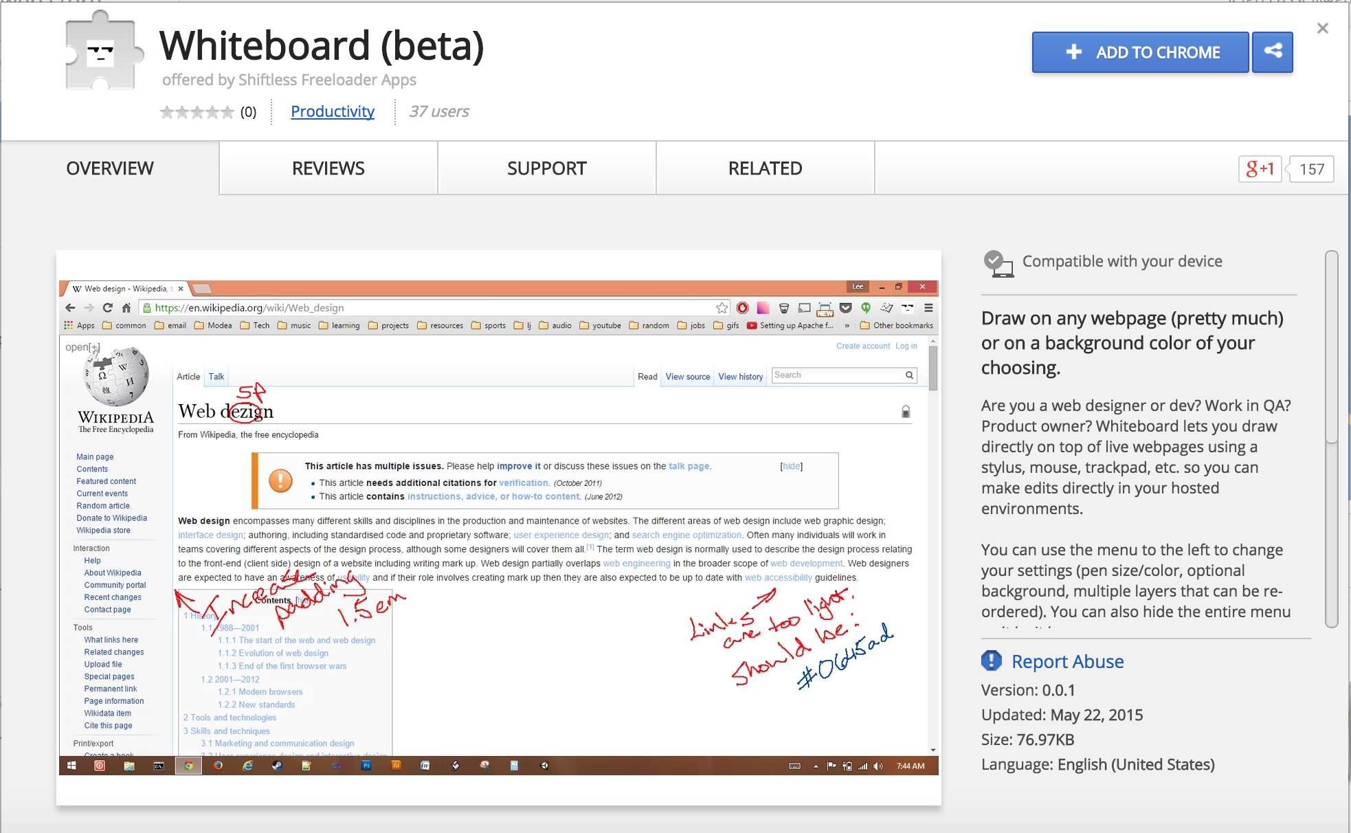Annotate Content On A Webpage Whiteboard Is Still In Beta Phase So  Stay Tuned For A Number Of New Features That Are In The Works: